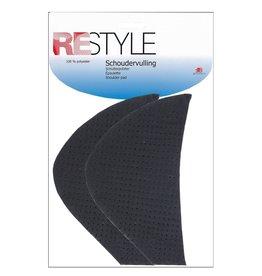 Restyle Restyle schoudervulling mantel zwart