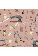 Canvas digital fournituren roze
