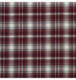 Polyester-katoen Check/ rode/witte ruiten