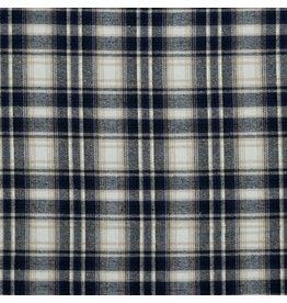 Polyester-katoen Checks/ blauw/beige ruiten