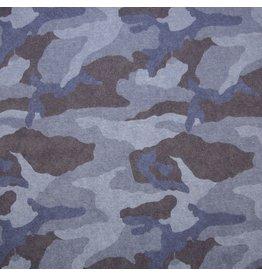 Sweat camouflage blauw Oeko-Tex