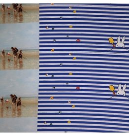 Jersey Nijntje panel blauw