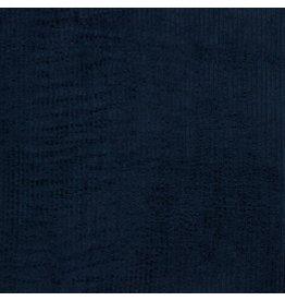 Ribfluweel donkerblauw