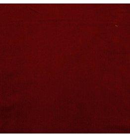 Ribfluweel rood