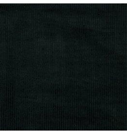 Ribfluweel zwart ruw
