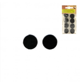 Mediac Mediac velcro rond 19mm 8sets zwart