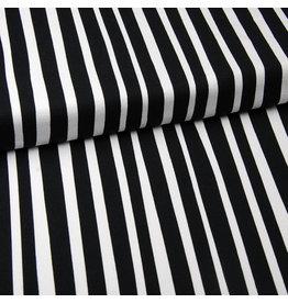 Eva Mouton French terry strepen zwart/wit