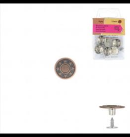 Mediac Mediac jeansknopen 17mm brons