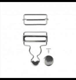 Mediac Mediac gespen voor salopet 35mm zilver