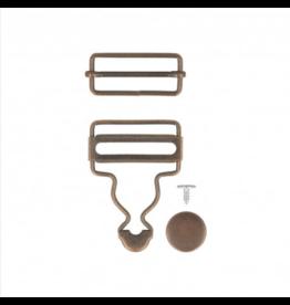 Mediac Mediac gespen voor salopet 35mm brons