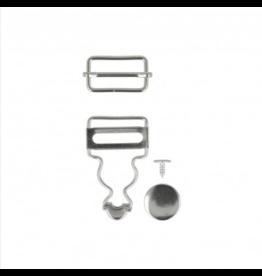 Mediac Mediac gespen voor salopet 25mm zilver
