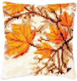Vervaco Vervaco kruissteekpakket kussen herfstbladeren