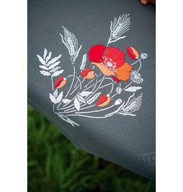 Vervaco Vervaco borduurpakket bedrukt tafelkleed/loper met ingeweven boord Klaprozen