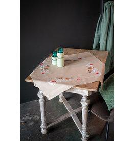 Vervaco Vervaco borduurpakket bedrukt tafelkleed met ingeweven boord Roodborstje in de winter
