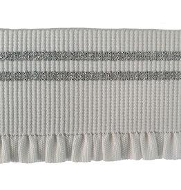 Vervaco Vervaco sierelastiek franjes wit/zilver 50mm