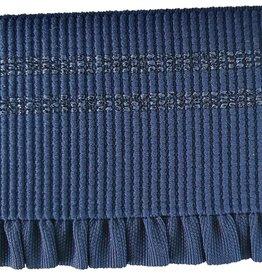 Vervaco Vervaco Sierelastiek franjes blauw 50mm