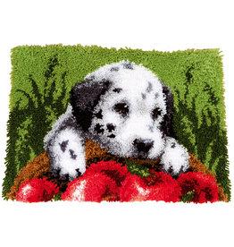 Vervaco Vervaco knooppakket tapijt Dalmatiër met appels