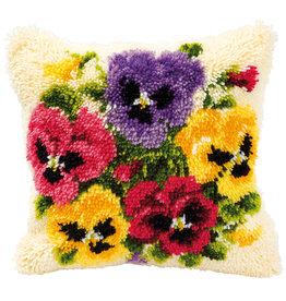 Vervaco Vervaco knooppakket kussen Kleurige bloemen
