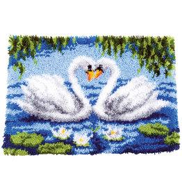 Vervaco Vervaco knooppakket tapijt Het zwanenmeer