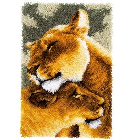 Vervaco Vervaco Knooppakket tapijt Leeuwinnen liefde