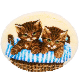 Vervaco Vervaco knooppakket tapijt kittens in mand