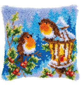 Vervaco Vervaco knooppakket kussen Roodborstje met kerst