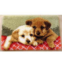 Vervaco Vervaco knooppakket tapijt Labradorpups