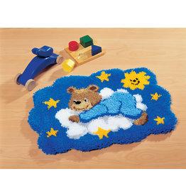 Vervaco Vervaco knooppakket tapijt beertje op blauwe wolk