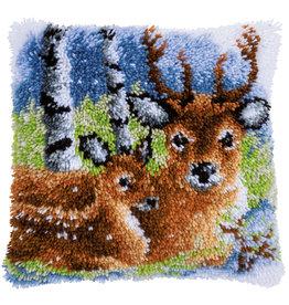 Vervaco Vervaco knooppakket kussen Herten in de sneeuw