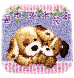Vervaco Vervaco knooppakket tapijt Knuffelende honden