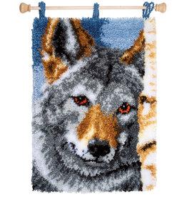 Vervaco Vervaco knooppakket wandhanger wolf