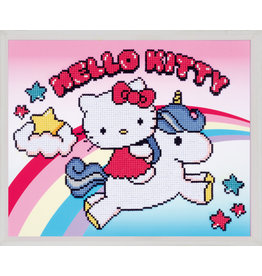 Vervaco Diamond painting Hello kitty met unicorn