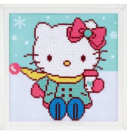 Vervaco Diamond painting Hello kitty in de sneeuw