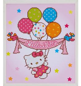 Vervaco Diamond painting Hello kitty met ballonnen