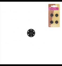 Mediac Mediac drukknopen  4st. 16mm zwart