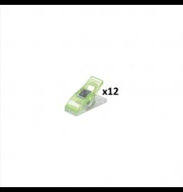Mediac Mediac Patchwork clips groen 12st. 10x27mm