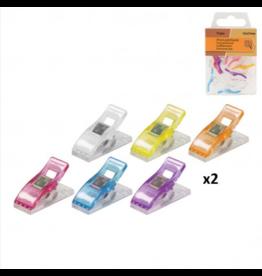 Mediac Mediac patchwork clips gekleurd 12st. 10x27mm