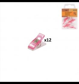 Mediac Mediac Patchwork clips roze 12st. 10x27mm