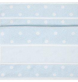Rico Rico handdoek om te borduren blauw met witte bolletjes