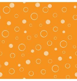 Vervaco Michael Miller 100% katoen bubbels geel/oranje