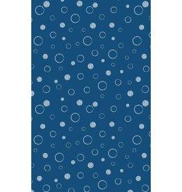 Vervaco Michael Miller 100% katoen bubbels donkerblauw