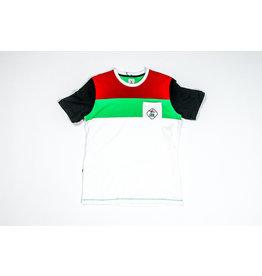 Shirt wit-rood-groen