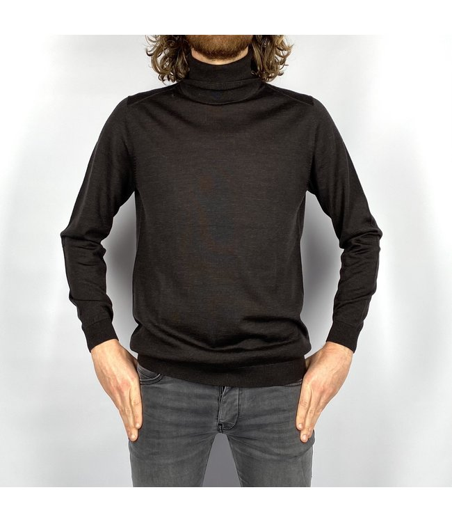 I'm Fine Knitwear Turijn Col Dark Chestnut