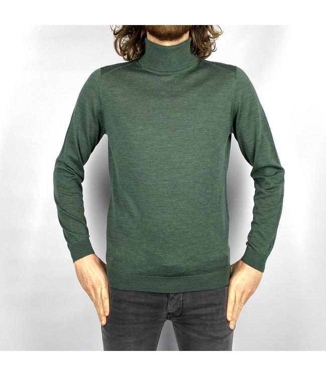 I'm Fine Knitwear Turijn Col Forest Green