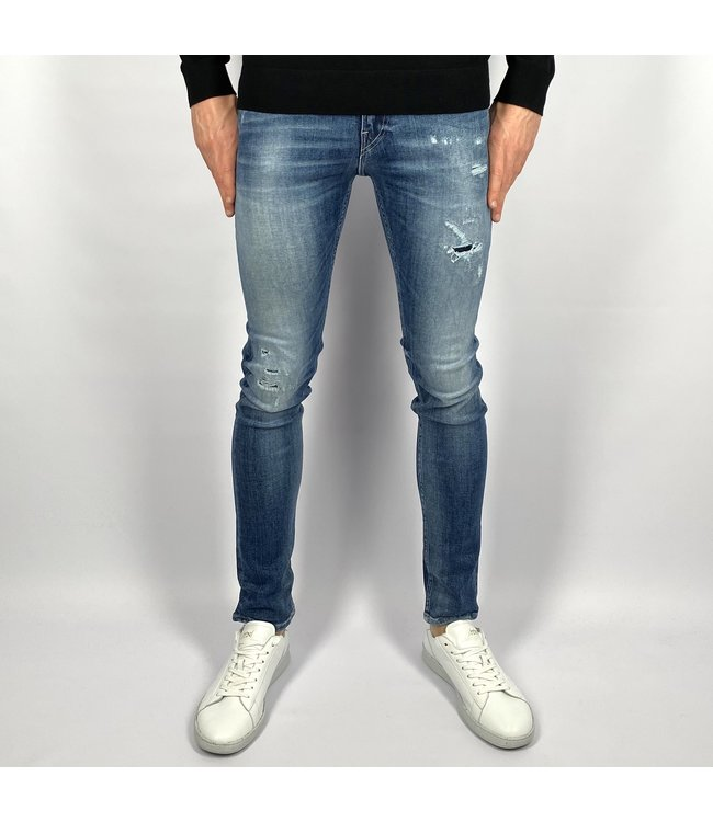 Replay Skinny Fit Aged 10 Years Sustainable Cycle Jondrill Jeans Lengte 32