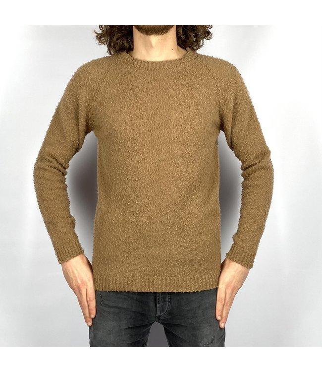 Wool & Co Crewneck Knit Brown