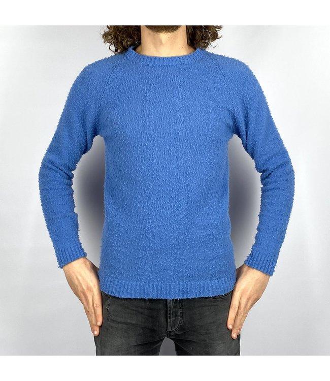 Wool & Co Crewneck Knit Blue