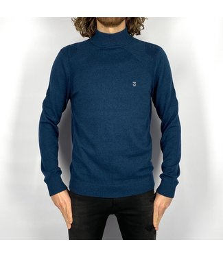 Koll3kt Mock Turtleneck Sweater Deep Ocean