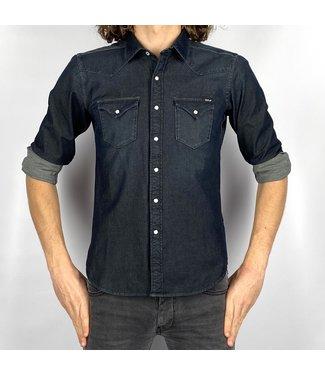 Replay Hyperflex Denim Slim Fit Shirt Blue