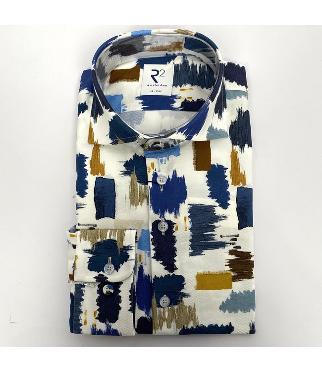 R2 Widespread Dobby Shirt Blu